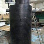 Пластиковый кессон на производстве