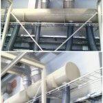 Пластиковый воздуховод на производстве